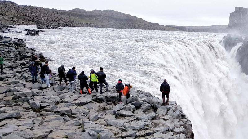 Ísland í augum ferðamanna á mótorhjólum.