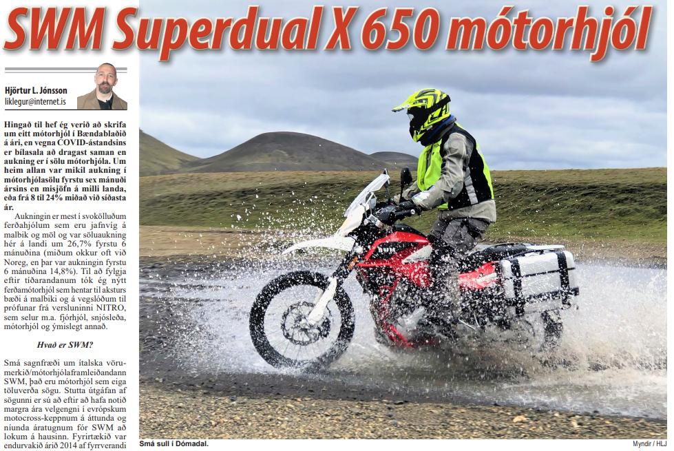 SWM Superdual X 650 mótorhjól