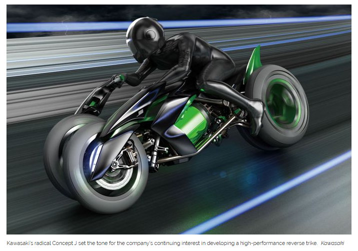 Kawasaki's Three-wheel Superbike